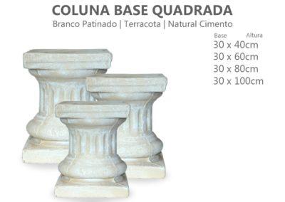 Coluna Base Quadrada