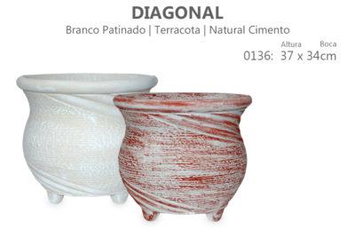 Vaso Cimento Diagonal