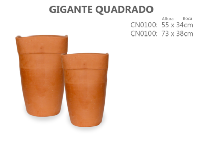 Vaso de Cerâmica Gigante Quadrado