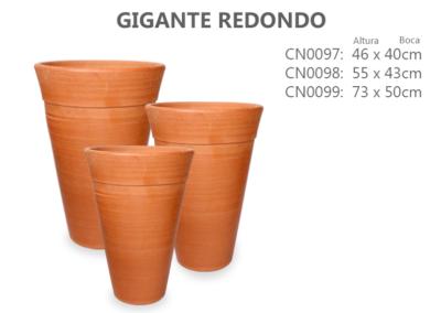 Vaso de Cerâmica Gigante Redondo