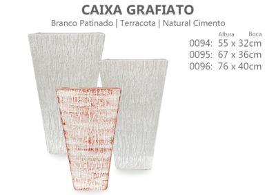 Vaso Cimento Caixa Grafiato