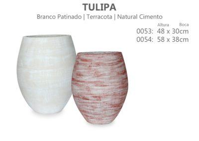 Vaso Cimento Tulipa